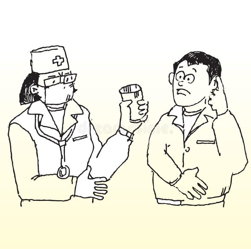 пациент доктора бесплатная иллюстрация