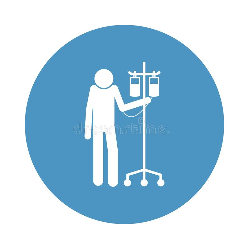 пациент с значком капилляра в стиле значка Одно значка собрания больницы можно использовать для UI, UX бесплатная иллюстрация