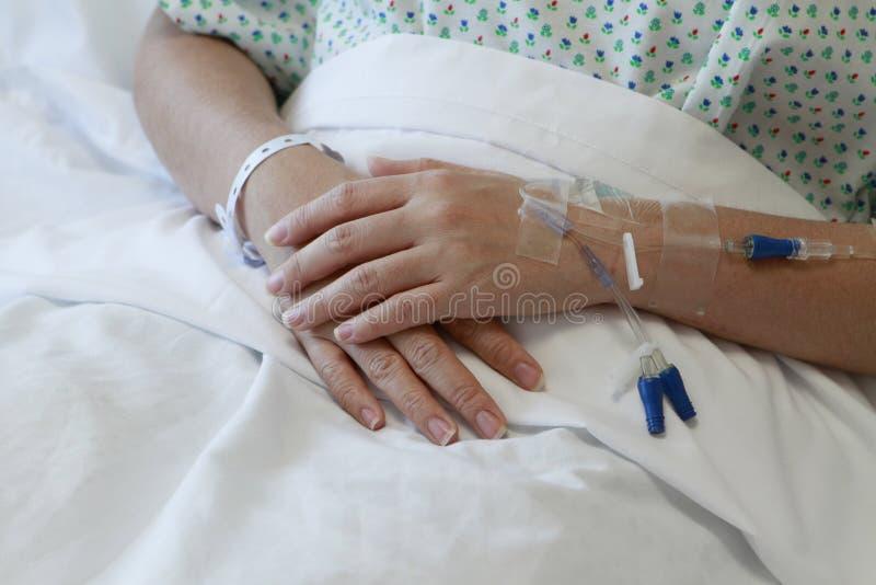 пациент iv потека стоковые изображения