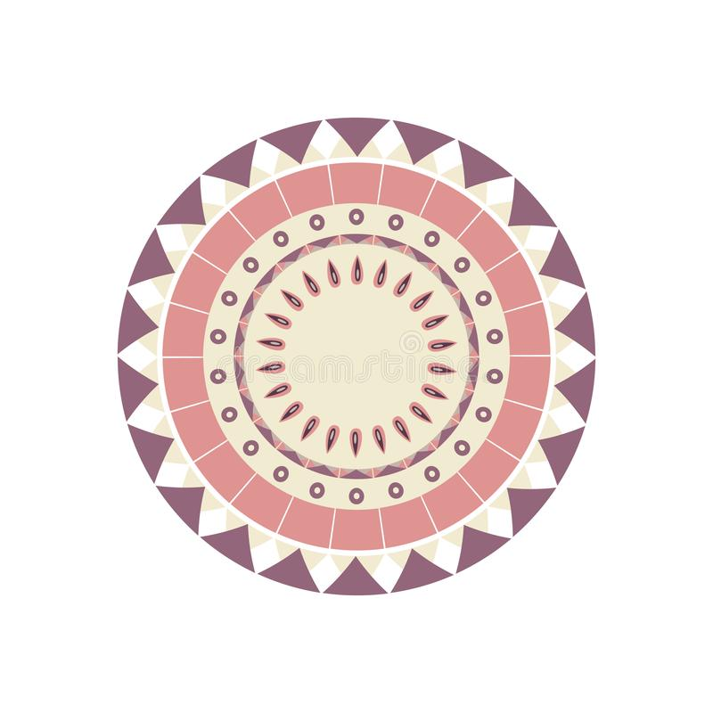 Пачка круглых восточных орнаментов иллюстрация штока