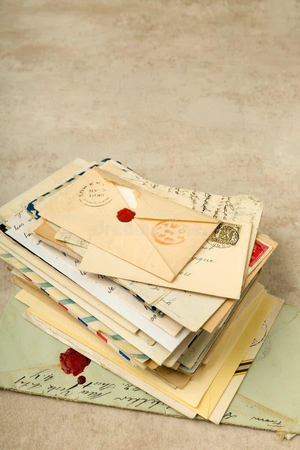 пачка помечает буквами старую стоковые фотографии rf