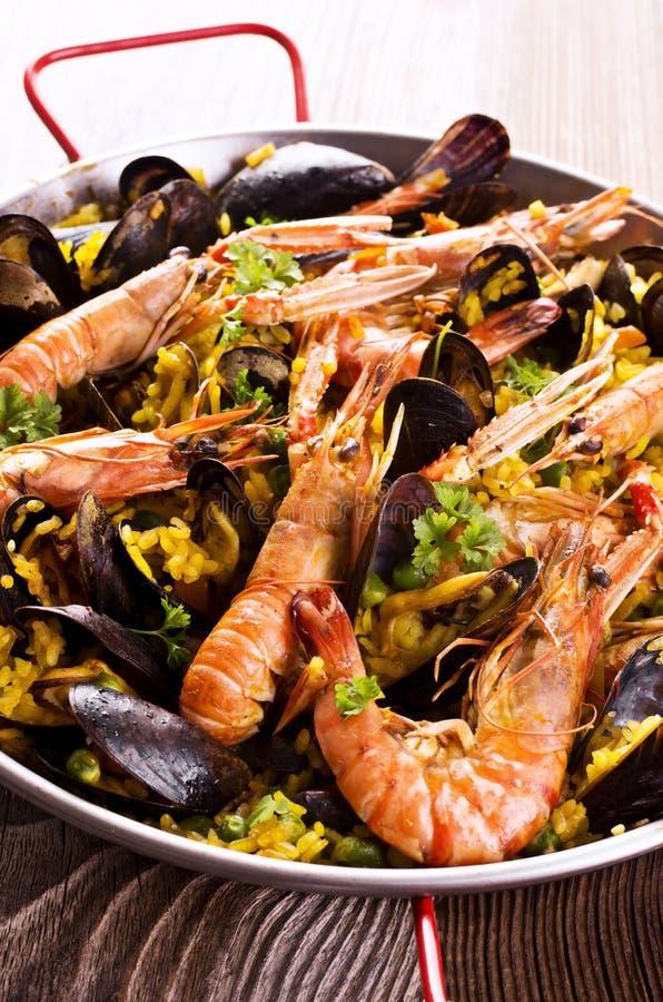 Паэлья морепродуктов стоковое изображение rf