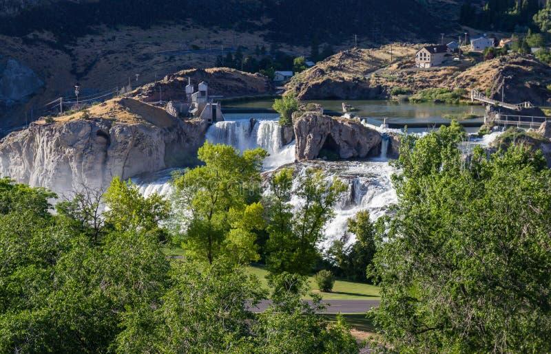 падает shoshone Айдахо стоковая фотография