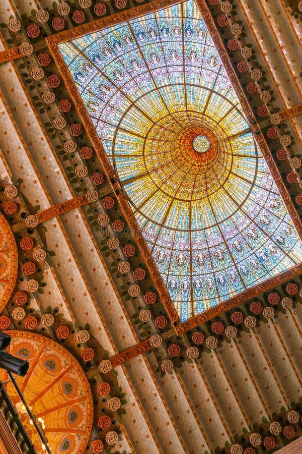 Палау de Ла Música Catalana, или дворец музыки Барселоны, Spai стоковое изображение rf