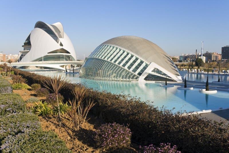 Палау de les Искусство и Hemisferic в Валенсии, Испании стоковая фотография