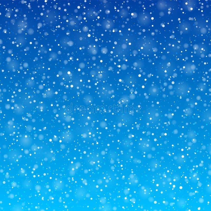 Падая снег иллюстрация вектора