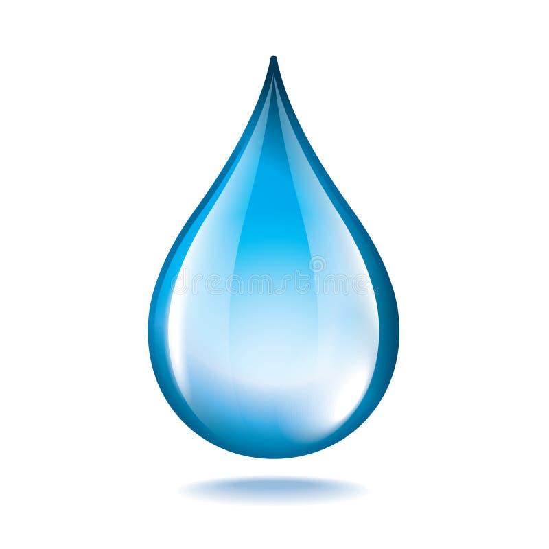 Падение воды на белом векторе