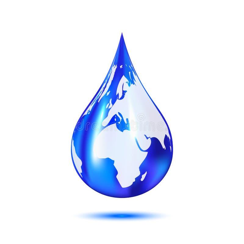 Падение воды с землей иллюстрация вектора