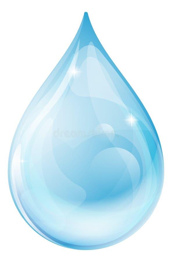 Падение воды иллюстрация вектора