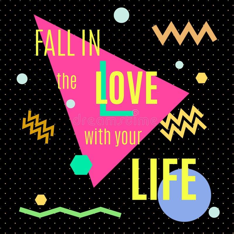 Падение в влюбленность с вашей жизнью иллюстрация штока