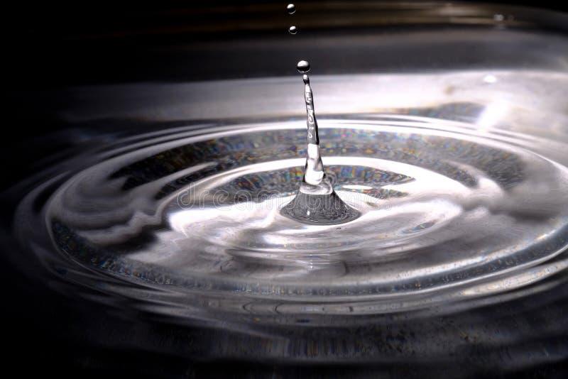 Падение и spalsh воды стоковые фотографии rf