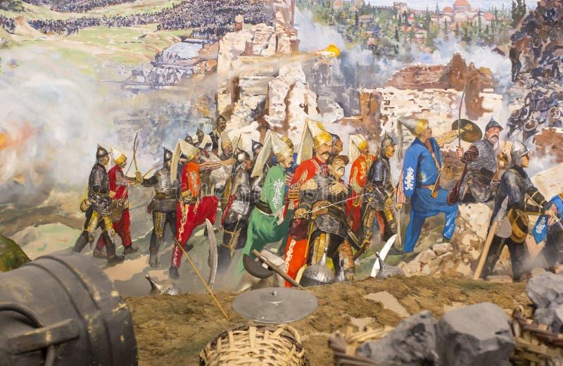 Падение Константинополя стоковые изображения