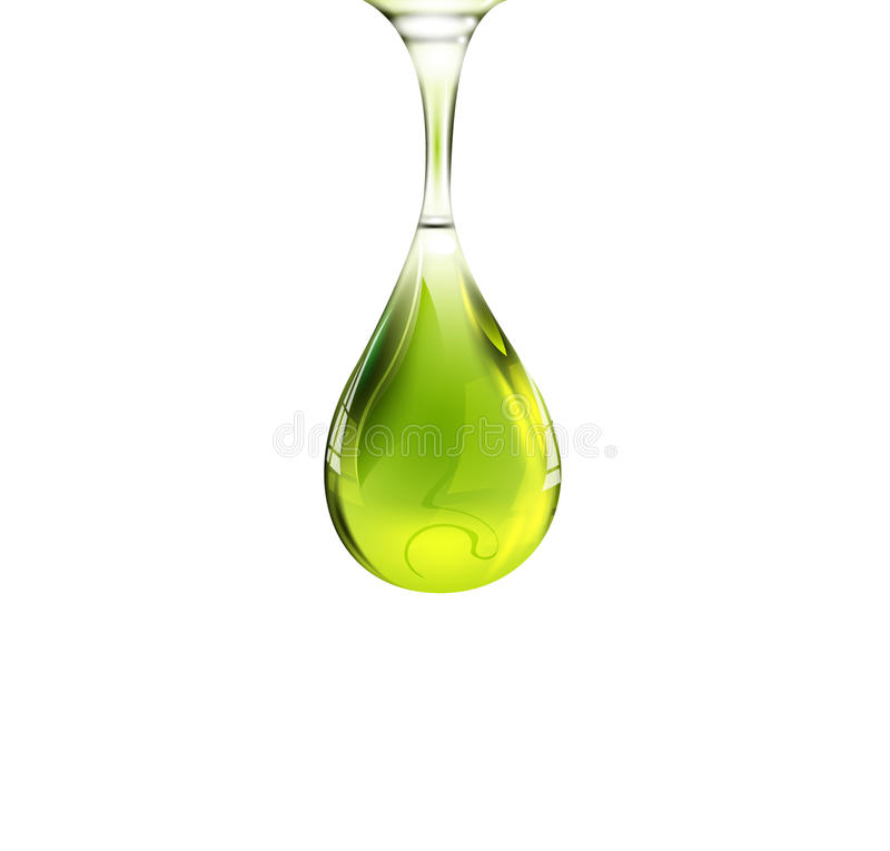 Падение оливкового масла иллюстрация вектора