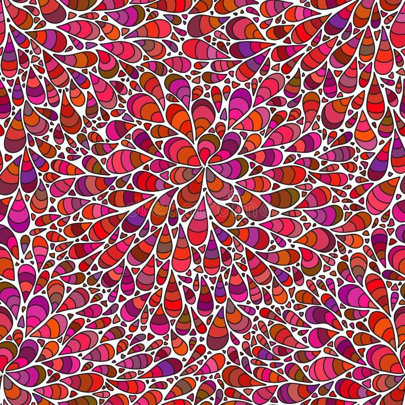 падения делают по образцу безшовное Бесконечный цветок с абстрактными цветками иллюстрация вектора