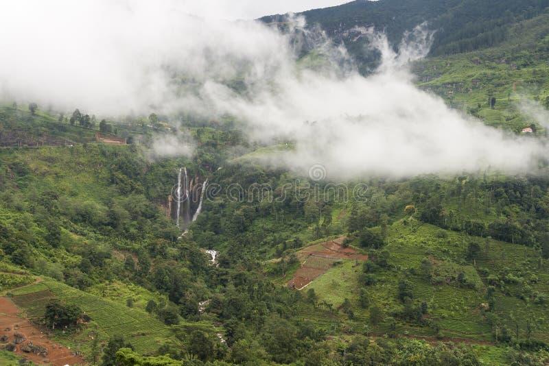 Падения Шри-Ланки Ramboda стоковое фото rf