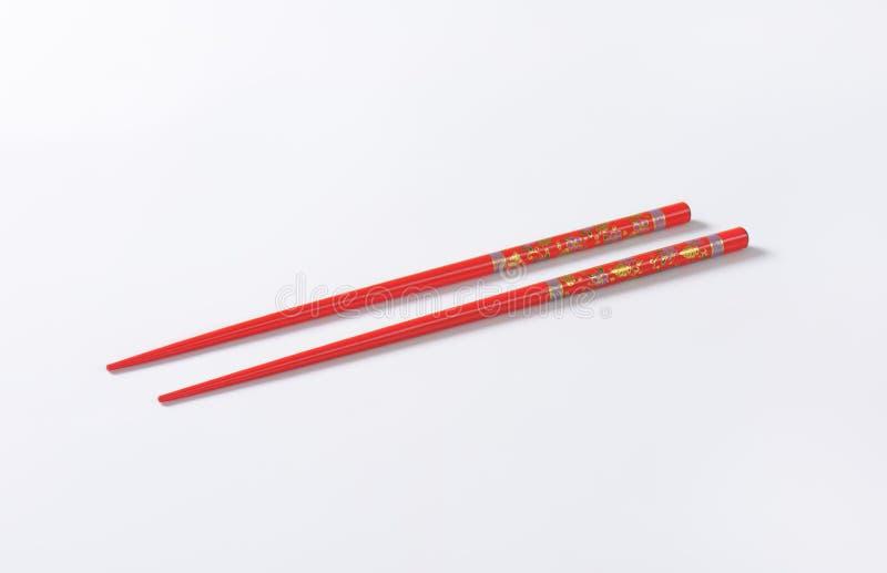 палочки красные стоковое изображение rf