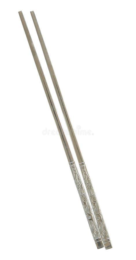 Палочки металла изолированные на белизне стоковое фото rf