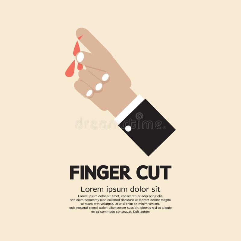 Пальцы отрезанные с ножом бесплатная иллюстрация