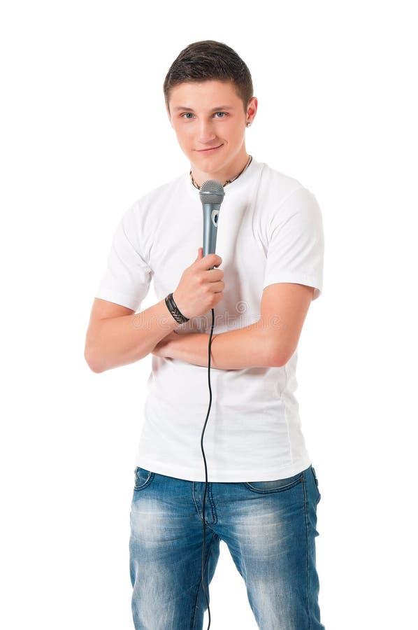 певица в реальном маштабе времени ража нот микрофона человека принципиальной схемы стоковые фотографии rf