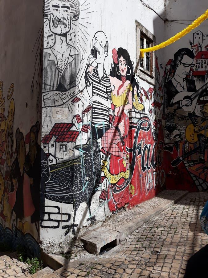 Певица Лиссабон фаду стоковое изображение rf
