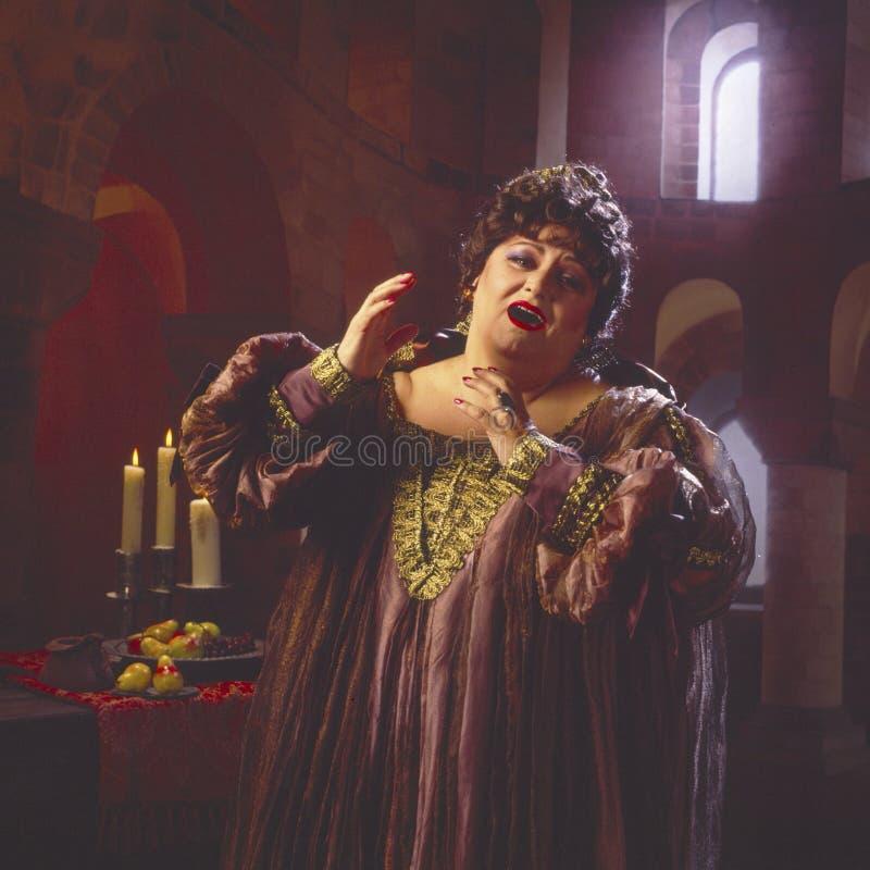 певица оперы 2 женщин стоковые изображения rf