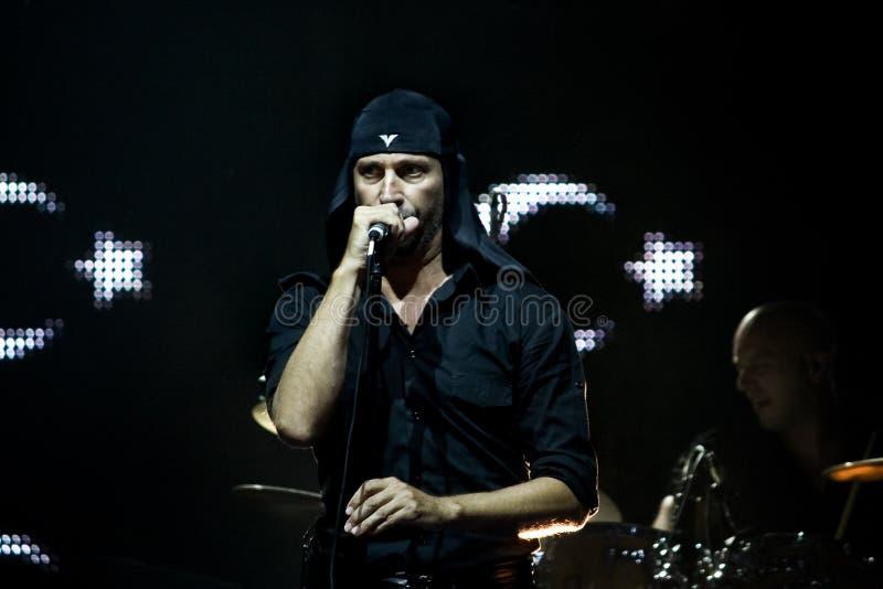 певица утеса laibach стоковое фото rf