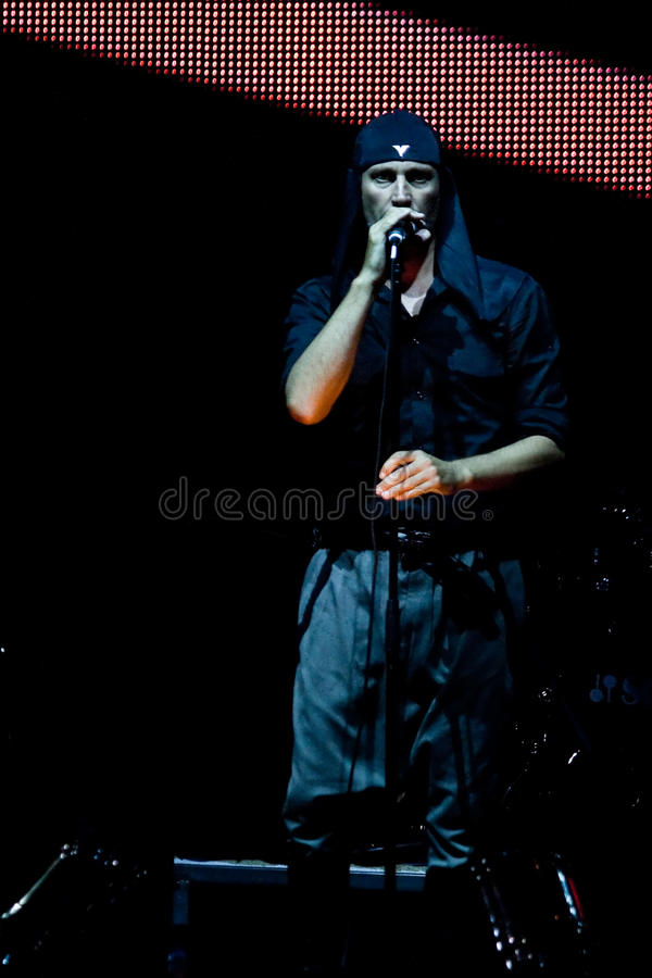 певица утеса laibach стоковые фото