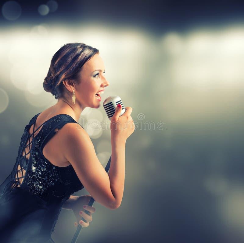 певица стоковое изображение