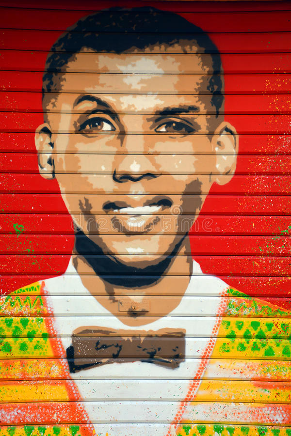 Певица Stromae belge искусства улицы стоковые фото