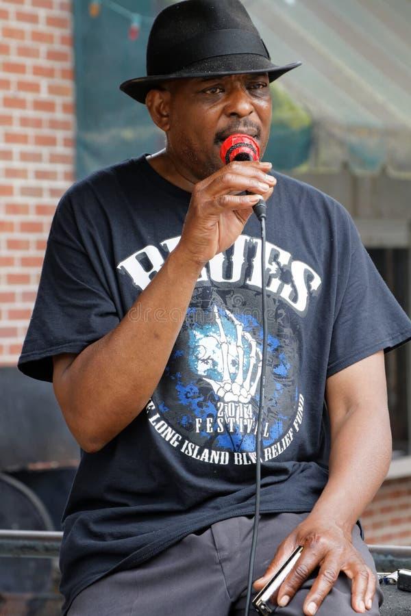 Певица Vince Джонсон син на месте Мемфиса стоковая фотография