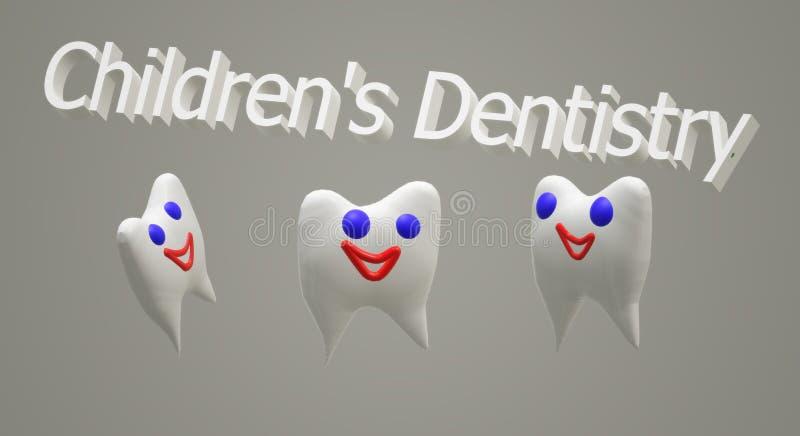 Педиатрическая костоеда itreatment облака зубоврачевания 3D иллюстрация вектора