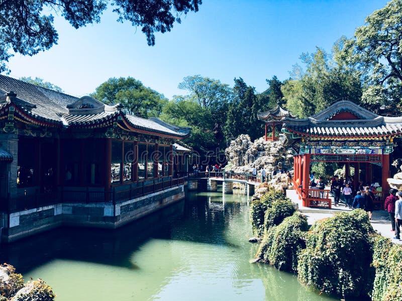 Пейзаж в парке Beihai стоковые изображения rf