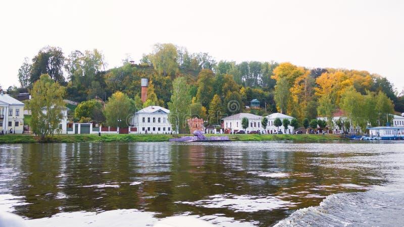 Пейзаж городка Plyos в области Иванова в России стоковые фотографии rf