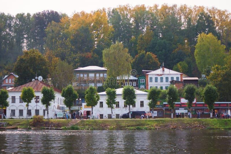 Пейзаж городка Plyos в области Иванова в России стоковое изображение
