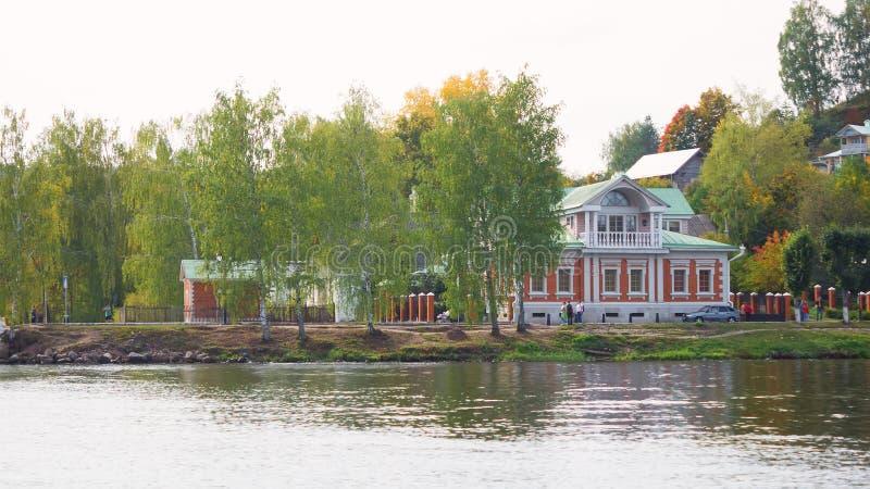 Пейзаж городка Plyos в области Иванова в России стоковые изображения rf