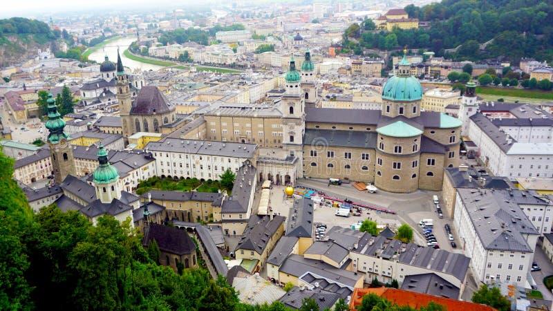 Пейзаж города городка Зальцбурга старого стоковое фото