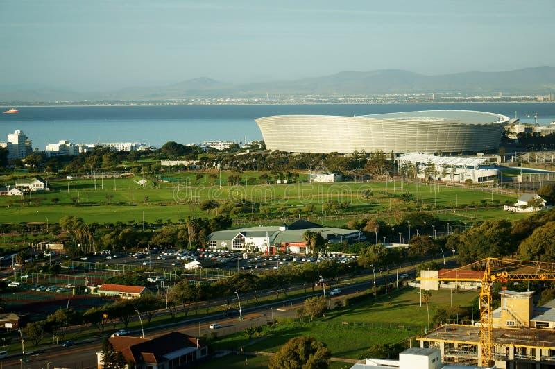 Пейзаж города Кейптауна стоковые изображения