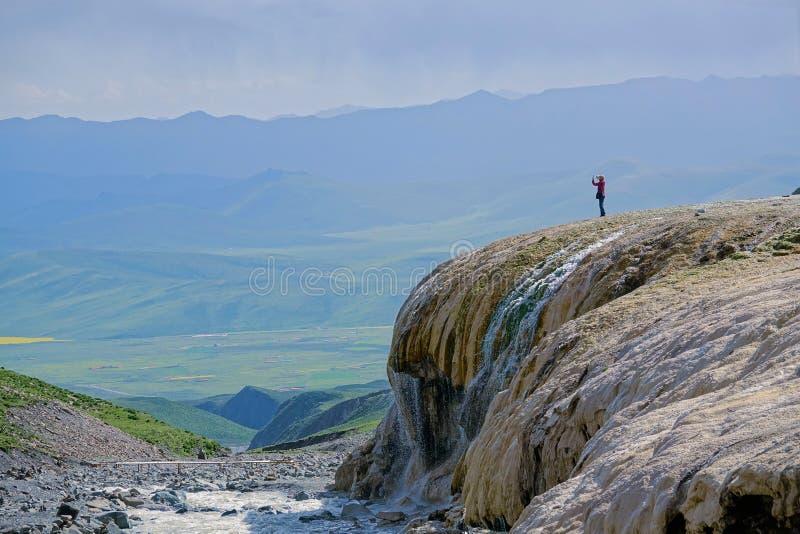 Пейзаж горы Gangshika стоковое изображение