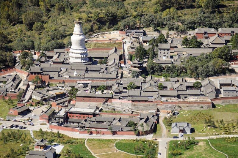 Пейзаж горы Wutai стоковые изображения