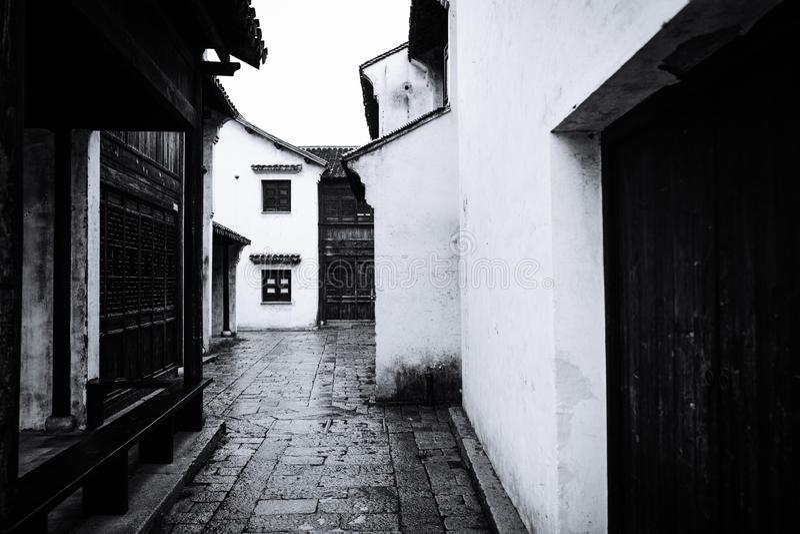Пейзаж древнего города Wuxi Huishan стоковое фото