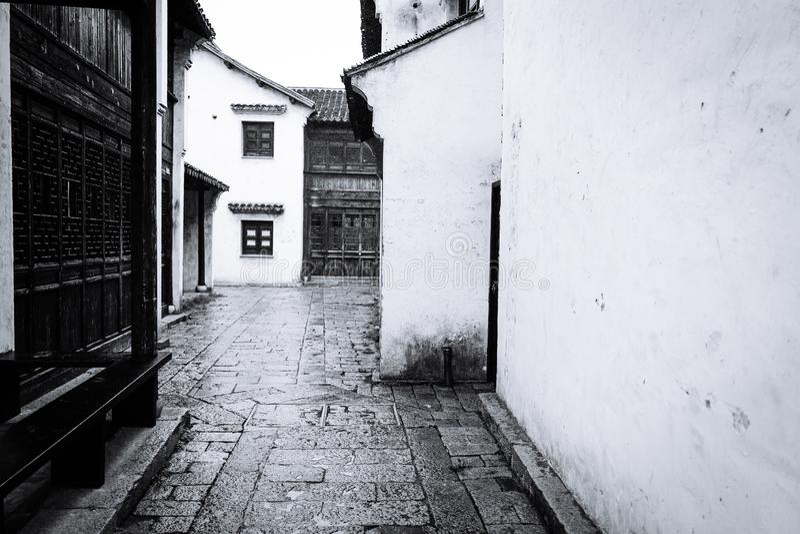 Пейзаж древнего города Wuxi Huishan стоковая фотография rf