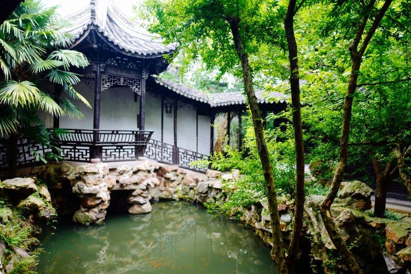 Пейзаж древнего города Wuxi Huishan стоковое фото rf