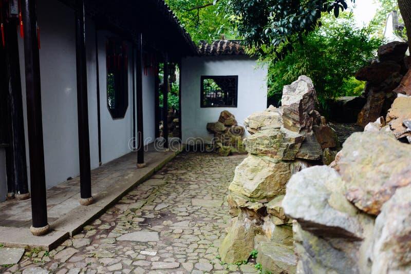 Пейзаж древнего города Wuxi Huishan стоковое изображение