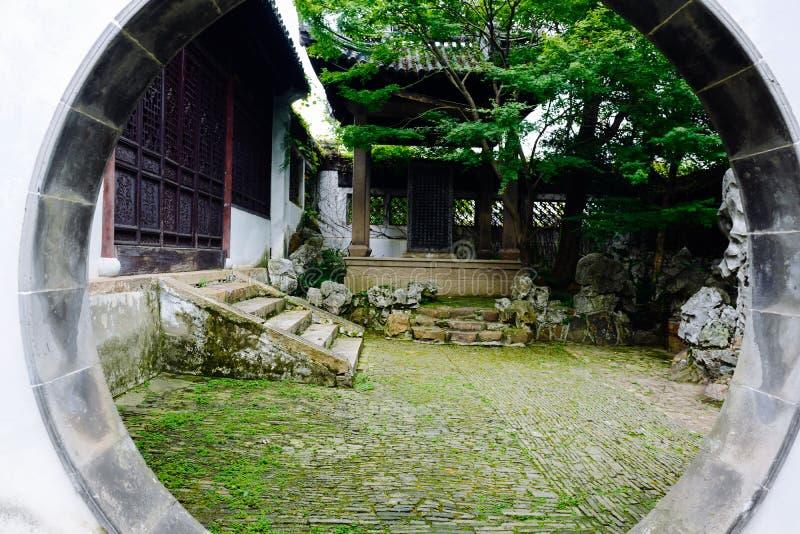 Пейзаж древнего города Wuxi Huishan стоковая фотография