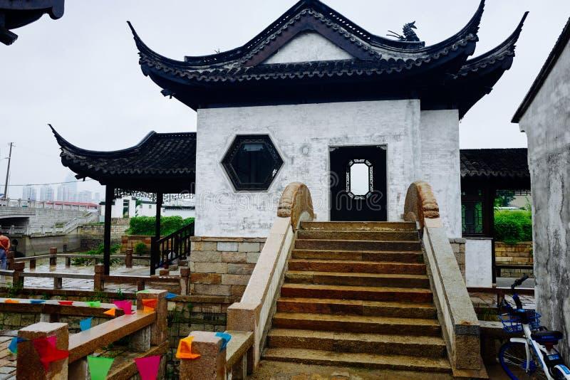 Пейзаж древнего города Wuxi Huishan стоковые фотографии rf