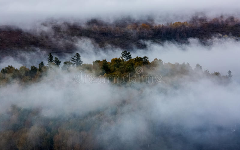 Пейзаж деревни Синьцзян Hemu стоковые изображения