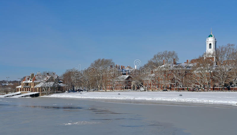 Пейзаж зимы Кембриджа стоковая фотография