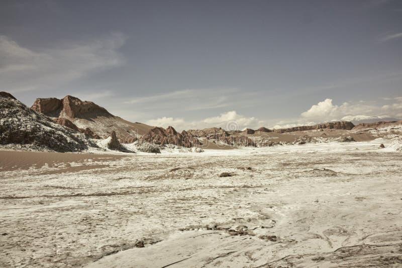 Пейзаж и горные породы ландшафта луны Чили Ла Valle de стоковое фото rf