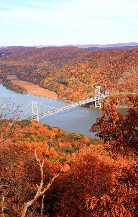Пейзаж листва на области реки Hudson стоковые изображения