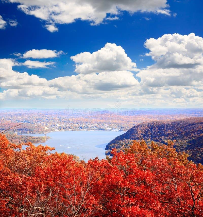 Пейзаж листва от вершины горы медведя стоковая фотография rf